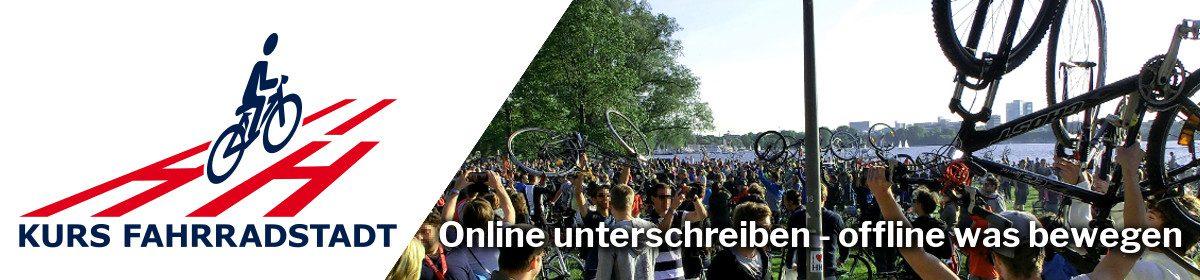 Kampagne für eine echte Fahrradstadt in Hamburg