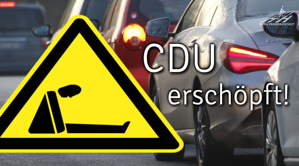 CDU verpennt Zeichen derZeit