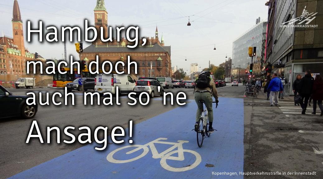 Dicke Luft und dürre Streifen in FahrradstadtHamburg