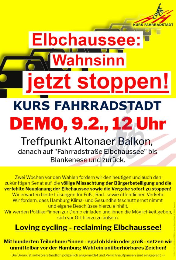 Demo KFHH Elbchaussee Aufruf
