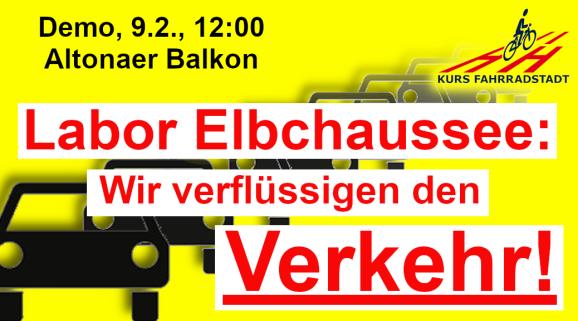 Demo KFHH Elbchaussee Verkehr