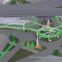 """Hamburg baut """"Deichtorloop"""" Cyclebridge und wird echte Fahrradstadt"""