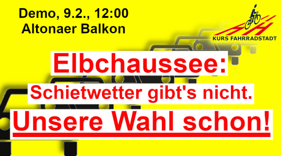 Demo KFHH Elbchaussee Schietwetter